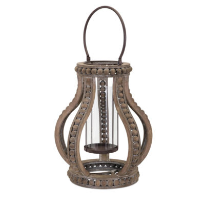 IMAX Worldwide Home Akiko Wooden Lantern