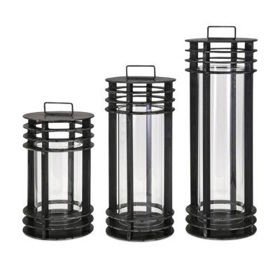 IMAX Worldwide Home Electra Metal Lanterns - Set of 3
