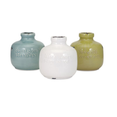 IMAX Worldwide Home Inspired Ceramic Jugs - Ast 3