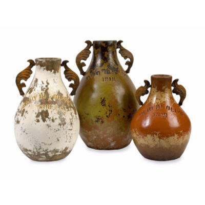 IMAX Worldwide Home Martine Terracotta Jugs - Setof 3