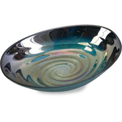 IMAX Worldwide Home Moody Swirl Glass Bowl
