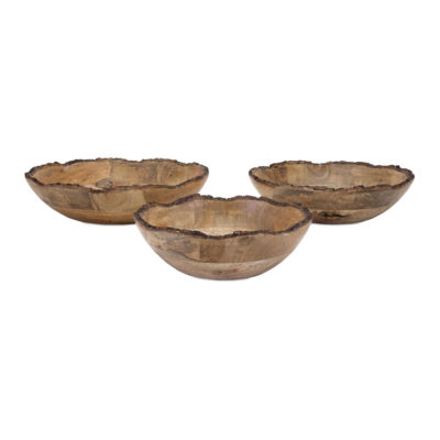 IMAX Worldwide Home Damari Wood Bowls - Set of 3