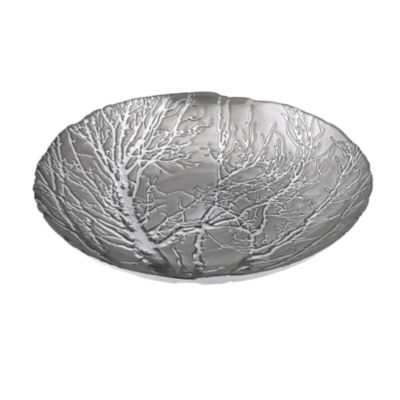 IMAX Worldwide Home Ethereal Tree Bowl - Silver Plated