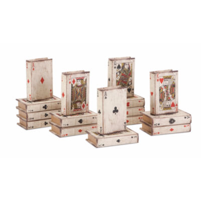 IMAX Worldwide Home Playing Card Book Boxes - Ast16