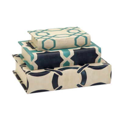 IMAX Worldwide Home Hadley Book Boxes - Set of 3
