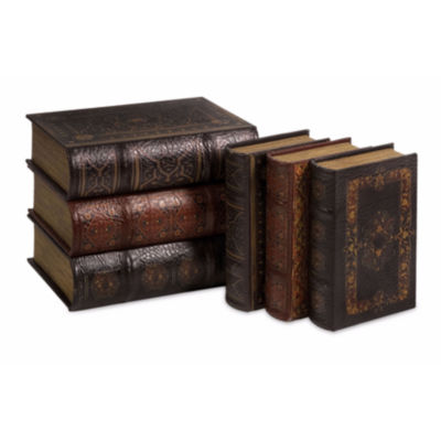 IMAX Worldwide Home Cassiodorus Book Box Collection - Set of 6