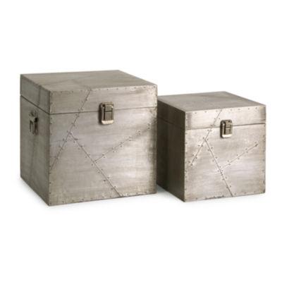 IMAX Worldwide Home Jensen Aluminum Clad Boxes - Set of 2
