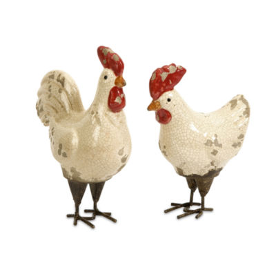 IMAX Worldwide Home Quinn Roosters - Set of 2