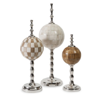 IMAX Worldwide Home Randolph Bone Finials - Set of3