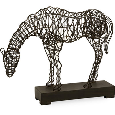IMAX Worldwide Home CKI Anatole Woven Horse Statuary