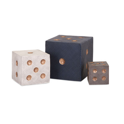 IMAX Worldwide Home Beth Kushnick Decorative Dice- Set of 3
