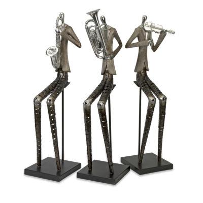 IMAX Worldwide Home Sinatra Jazz Band Figures - Set of 3