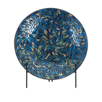 IMAX Worldwide Home Peacock Mosaic Charger and Stand