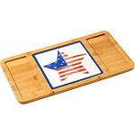 Celebrations by Precious Moments 171531 PatrioticStar Glass Cutting Board/Trivet  7-inches by 7-inches