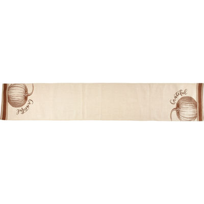 Bountiful Blessings by Precious Moments 171554 Grateful Harvest Polyester Table Runner  72-inches by13.75-inches