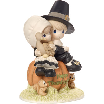 "Precious Moments  ""I Give Thanks Every Day For You""  Limited Edition Bisque Porcelain Sculpture#179014"
