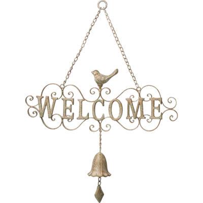 """Precious Moments  """"Welcome Bell""""  Door HangerMetal  #171557"""