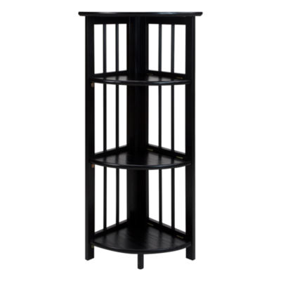 4-Shelf Corner Folding Bookcase