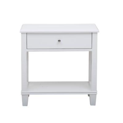 White Open 'X' Leg Side Table