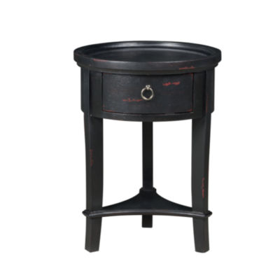 Marnie Black Round Accent Table