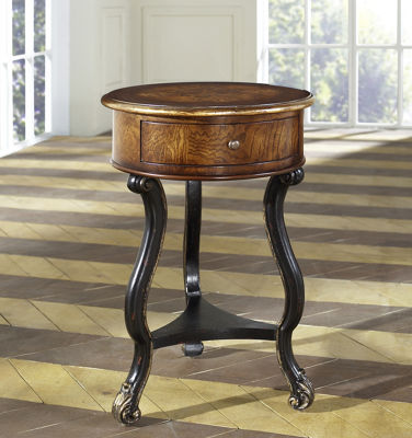 Lathan Two Tone Round Accent Table