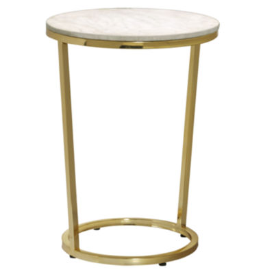 Emory Marble Top Round Accent Table