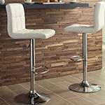 Signature Design by Ashley® Bellatier Set of 2 Upholstered Adjustable Height Barstools