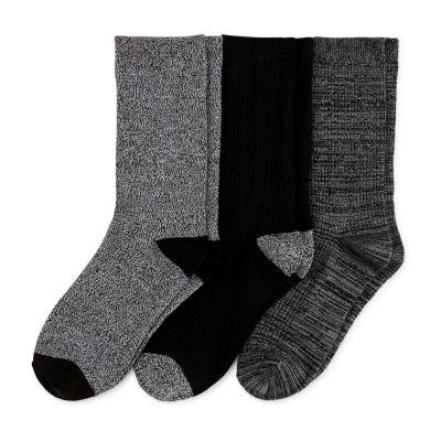 Cuddl Duds Leg Layering 3 Pair Crew Socks - Womens