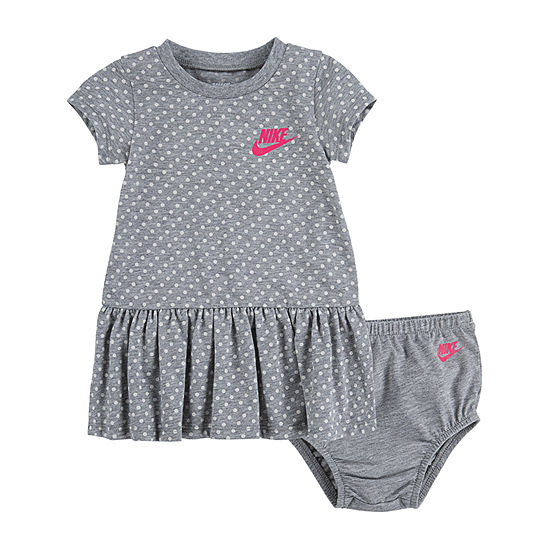 Nike Short Sleeve Polka Dot T Shirt Dresses Baby Girls