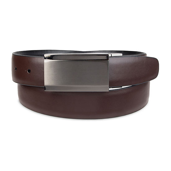 JF J. Ferrar® Reversible Men's Belt with Plaque Buckle