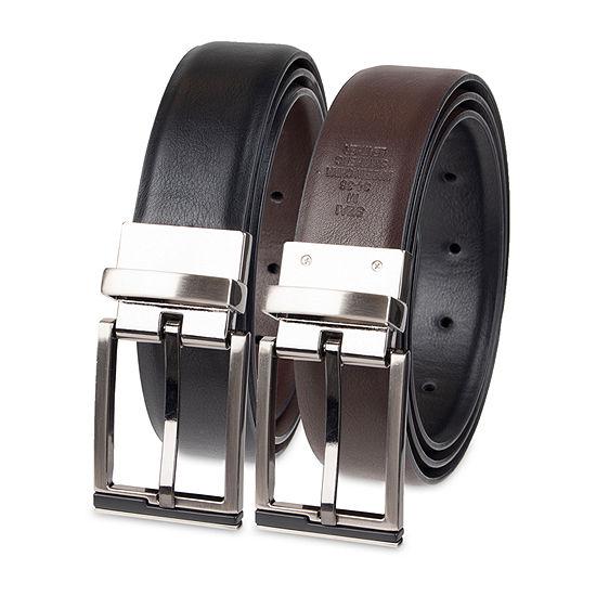 JF J.Ferrar® Stretch Reversible Men's Belt with Metal Keeper