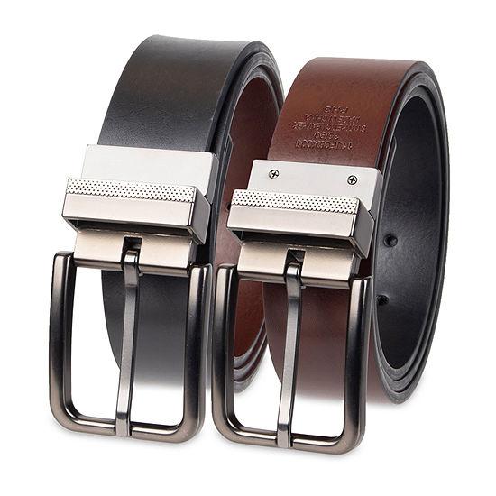 JF J. Ferrar® Reversible Dress Men's Belt with Metal Keeper