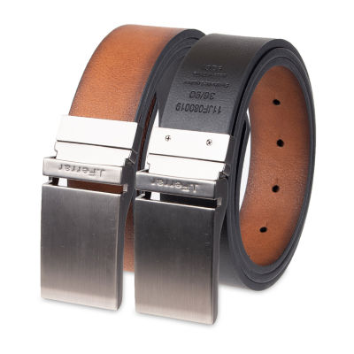 JF J.Ferrar® Men's Reversible Belt with Plaque Buckle