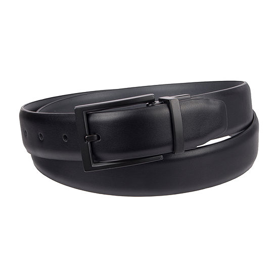 JF J.Ferrar® Stretch Reversible Men's Belt with Metal Keeper