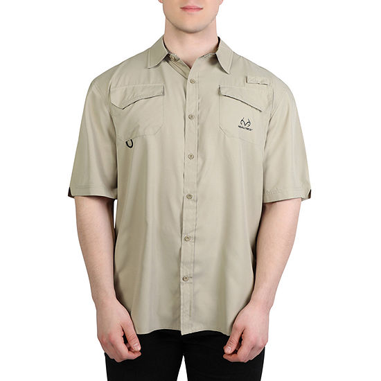 Realtree Mens Woven Camp Shirt