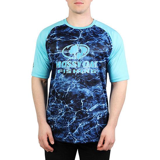 Mossy Oak Mens Crew Neck Short Sleeve Moisture Wicking T-Shirt