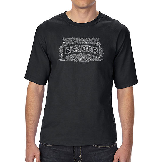 Los Angeles Pop Art Men's Tall and Long Word Art T-shirt - The US Ranger Creed