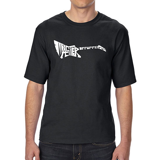 Los Angeles Pop Art Men's Tall and Long Word Art T-shirt - Master of Puppets