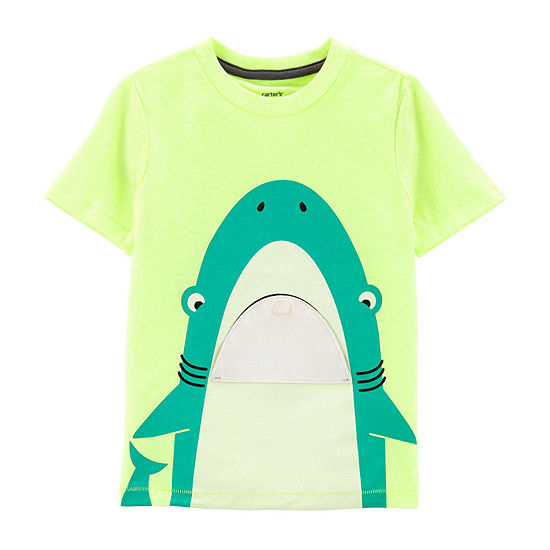Carter's Boys Crew Neck Short Sleeve Graphic T-Shirt-Toddler