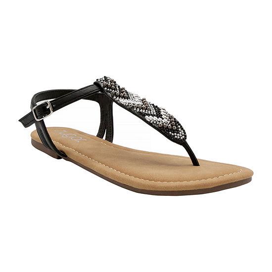 Sugar Womens Polina Slingback Strap Flat Sandals