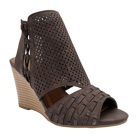 Sugar Womens Wedge Sandals