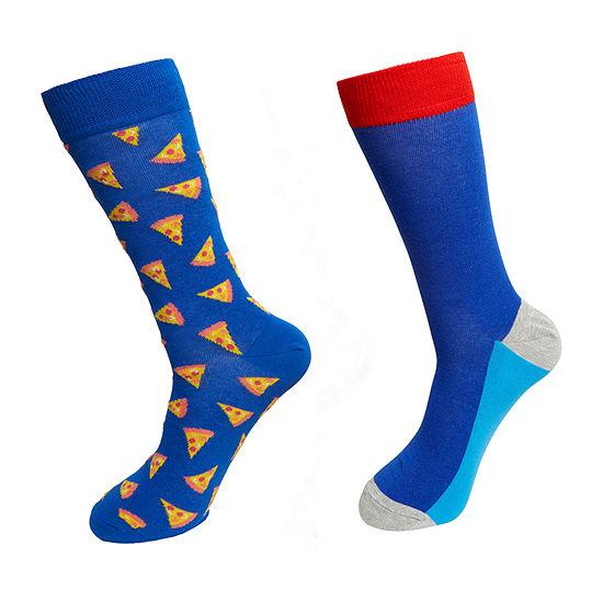 HS By Happy Socks Mens 2 Pair Crew Socks