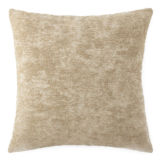Solid Chenille Square Throw Pillow