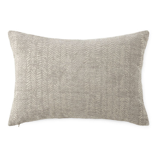 Herringbone Lumbar Oblong Throw Pillow