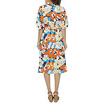 52seven 3/4 Sleeve Floral Fit & Flare Dress