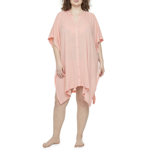 Peyton & Parker Womens Dress Swimsuit Cover-Up Plus
