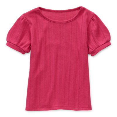 Thereabouts Toddler Girls Crew Neck Short Sleeve T-Shirt