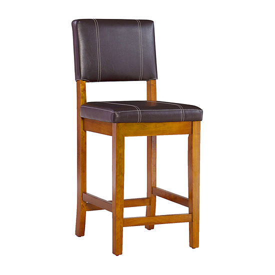 Triena Milano Counter-Height Upholstered Barstool with Back