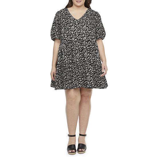 a.n.a-Plus Short Sleeve Shift Dress
