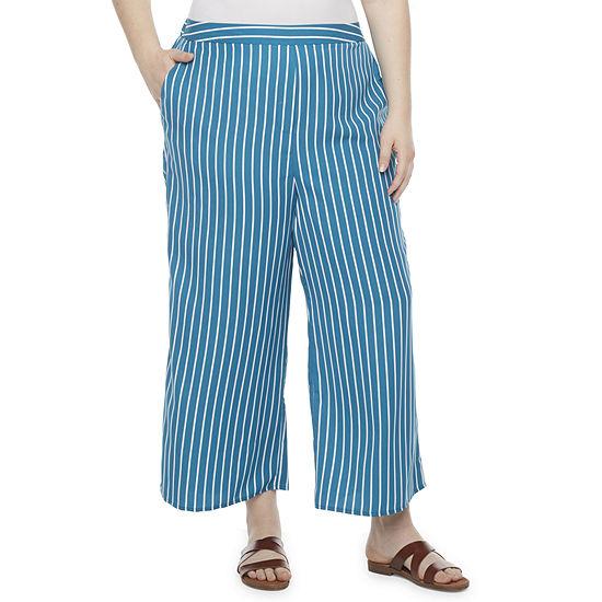 Worthington Wide Leg Cropped Pants